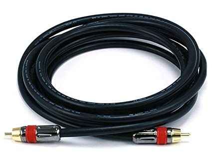 Monoprice 10ft High-quality Coaxial Audio/Video RCA CL2 Rated Cable - RG6/