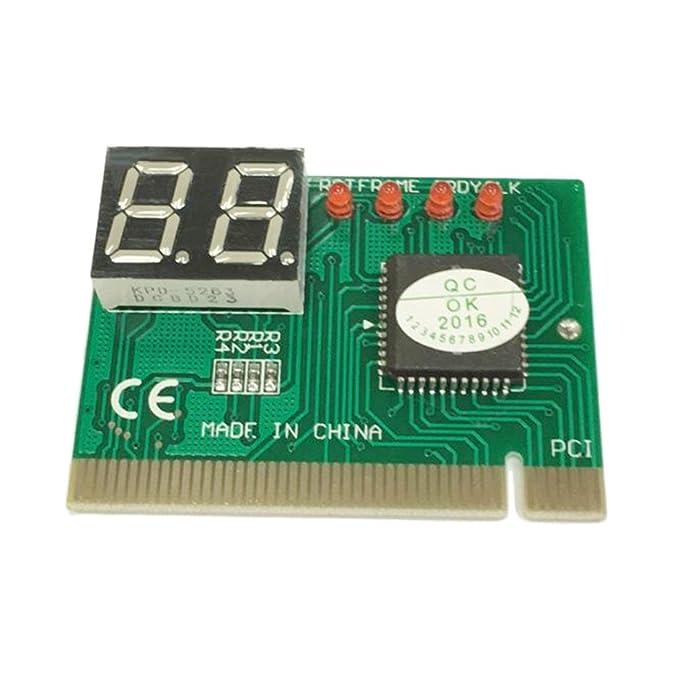 Tarjeta de diagnóstico PCI PC de 2 dígitos Tarjeta Madre Analizador de comprobador Posterior del comprobador