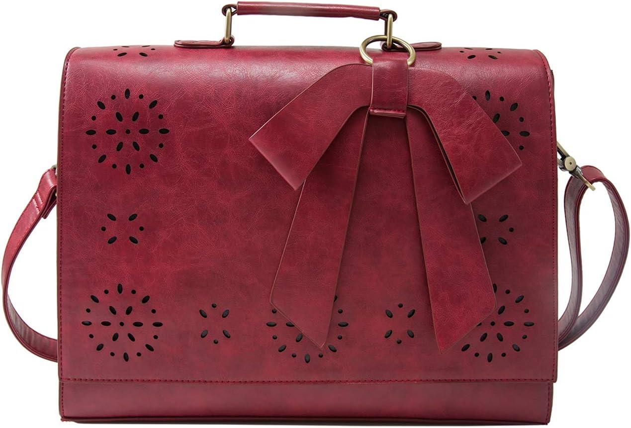 Rouge 1, ECOSUSI Sac Bandouli/ère pour Femme Sac /à/ Main R/étro Sac Port/é /épaule Vintage Rouge
