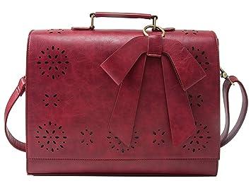 Amazon.com: Portafolios para dama en cuero sintético ...
