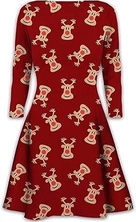 Kids Christmas Mother Daughter Swing Dress Girls Womens Gift Candy Children Gingerbread Snowman Smock Reindeer Xmas Novelty Mini Dress