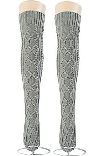 f5d2b1fbf Women s Cable Knit Long Boot Socks Over Knee High Winter Leg Warmer Stocking