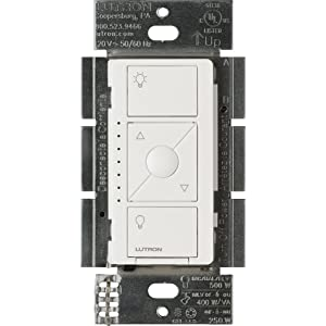 Lutron PD-5NE-WH ELV Caseta Wireless Electronic Low Voltage In-Wall Dimmer