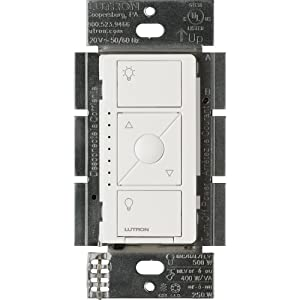 Lutron PD-5NE-WH ELV Caseta Wireless Electronic Low Voltage In-Wall Dimmer 1 Pack White