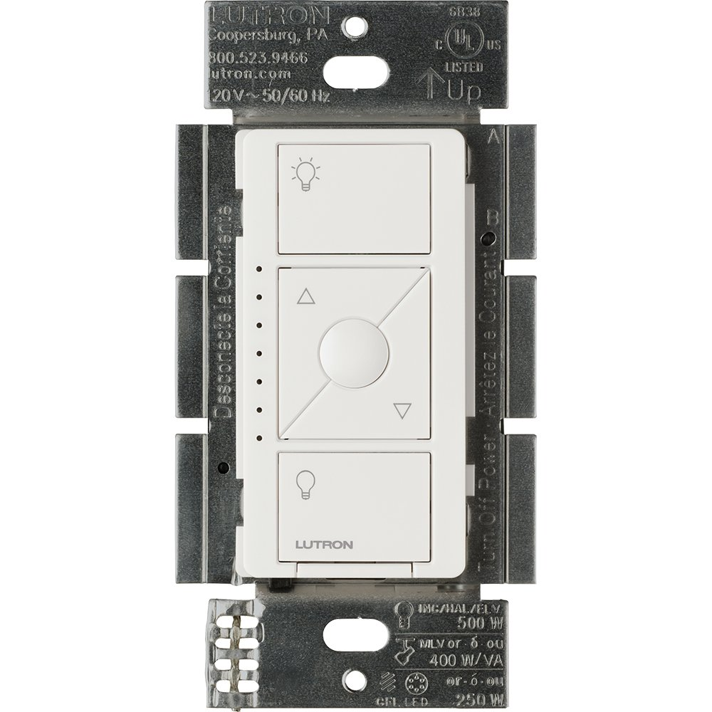 Lutron PD-5NE-WH ELV Caseta Wireless Electronic Low Voltage In-Wall Dimmer 1 Pack White by Lutron (Image #1)