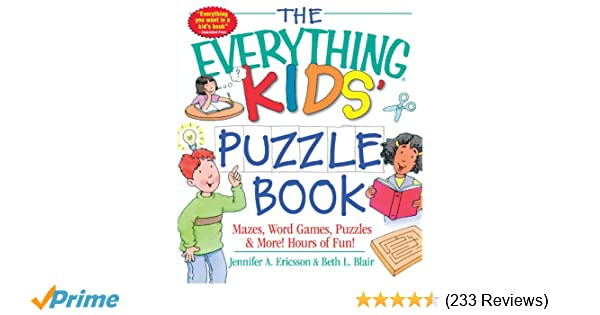The Everything Kids Puzzle Book Mazes Word Games Puzzles