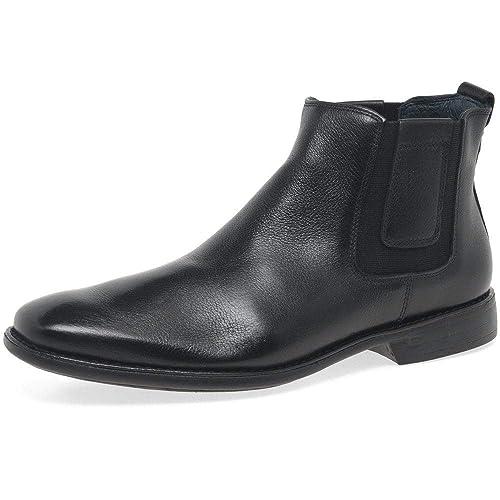 Savelli Estado Mens Clásico Cuero Chelsea Botines: Amazon.es: Zapatos y complementos