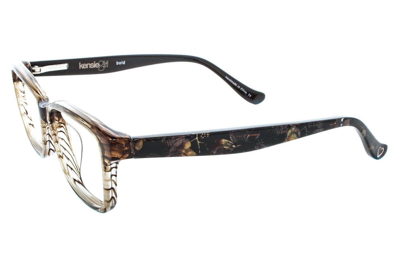 dbfcaf1acb8 Amazon.com  KENSIE GIRL Eyeglasses BOLD Honey 46MM  Clothing