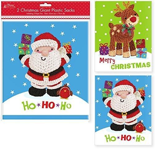 2 Giant Plastic Christmas Sacks shop inc