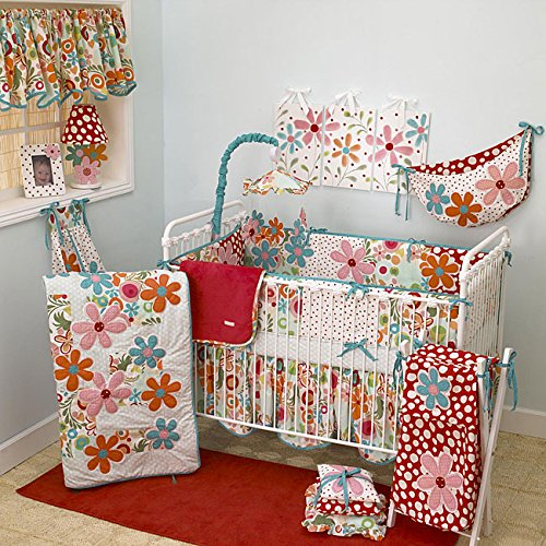Cotton Tale Lizzie 8-piece Crib Bedding Set sets includes Fitted sheet Dust ruffle Quilt Bumper and more ()