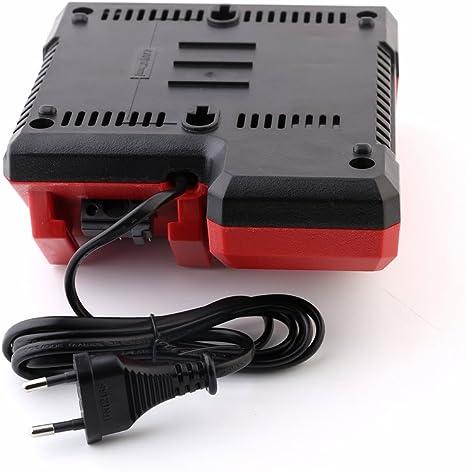 18.00V Rojo FengBP/® Cargador de repuesto para Milwaukee M18 M12 18 V 220 V bater/ía de ion de litio 48-59-1812 48-59-1807 48-59-1806 48-59-1840 2710-20 48-11-1828 48-11-1840 Rojo