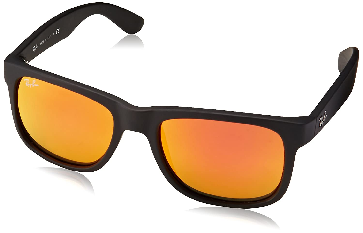 Ray-Ban Justin Sunglasses (RB4165) Black/Orange Plastic, Nylon - Non-Polarized - 54mm RB4165 Non-Polarized MOD.4165SUN_622/6Q-54