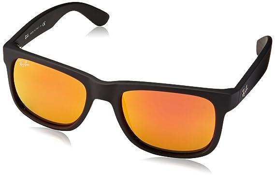 be6430c0845bbe Ray-Ban 0RB4165 Justin Classic Sonnenbrille Large (Herstellergröße  55),  Schwarz (
