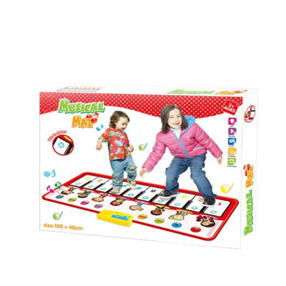 Play Keyboard Mat 39 Inches 10 Keys Cartoon Kids Design Electronic Musical Keyboard Playmat Foldable Floor Keyboard Piano Dancing Activity Mat Step And Play Instrument Toys For Toddlers Children's Gif by GAOCAN-gq (Image #2)