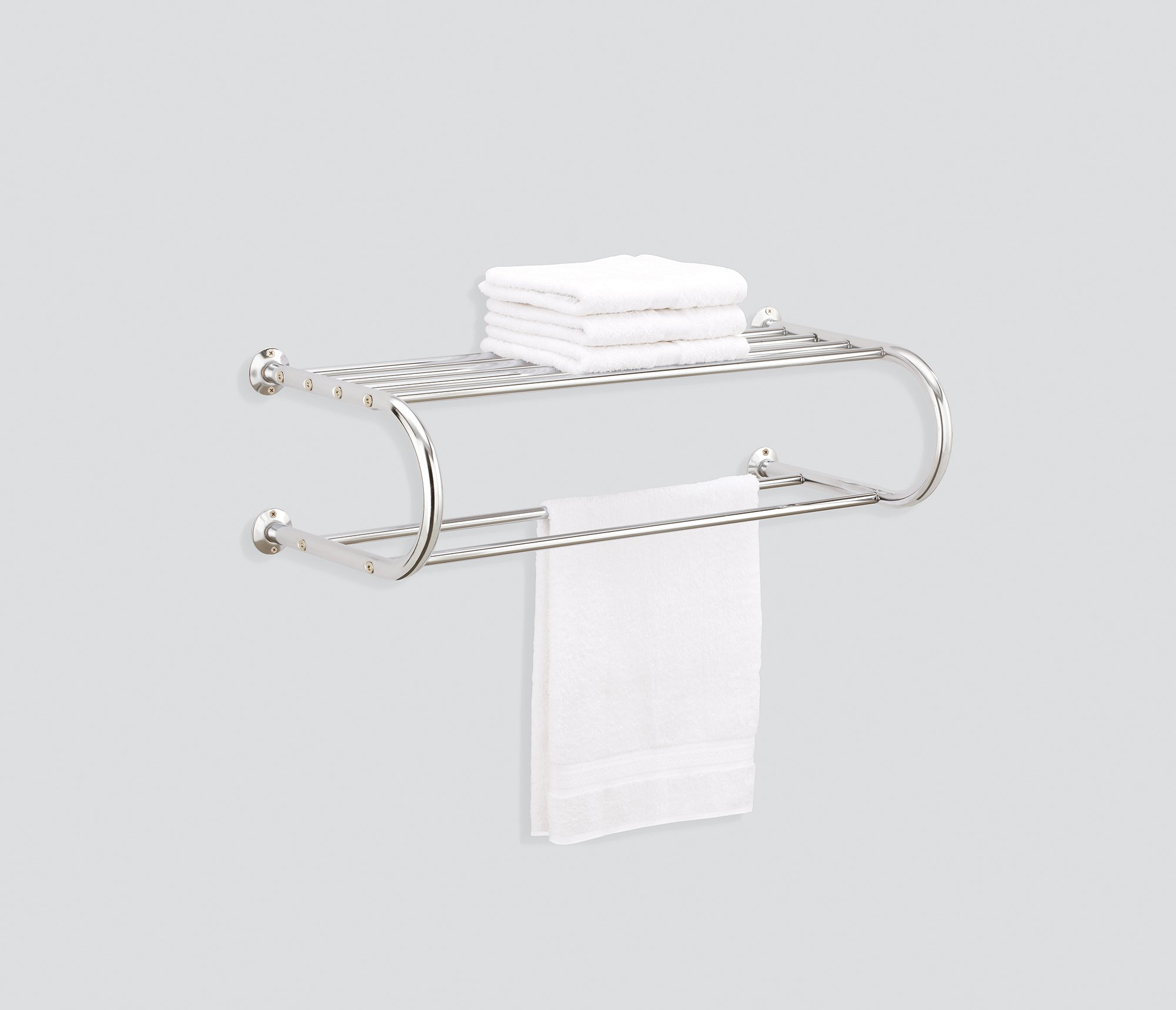 Organize It All Shelf Rack With Two Towel Bars Ebay