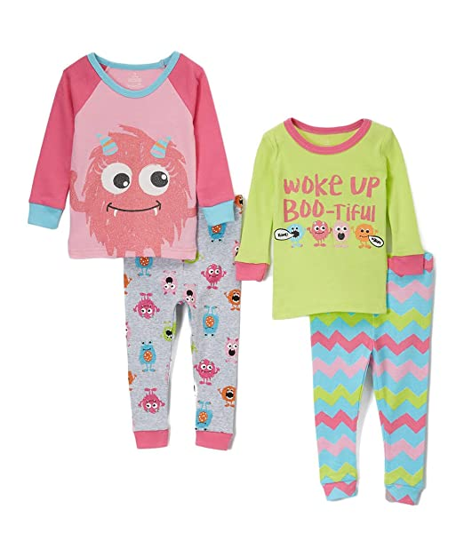 27dc067d29 Amazon.com  Candlesticks Girls  Baby Girls 4-Piece Snug Fit Pajama ...
