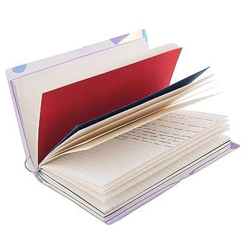 Cuaderno de Viaje Estilo Vintage Típico Dario Agenda con Funda Plástica de Color Metálico para Apuntar Día a Día (color metálico)