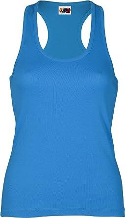 Emilio Fernández Camiseta Tirante Espalda NADADORA 100% ALGODÓN Azul Turquesa: Amazon.es: Ropa y accesorios