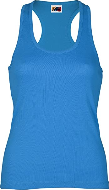4bf4a214ef4 Emilio Fernández Camiseta Tirante Espalda NADADORA 100% ALGODÓN Azul  Turquesa (XS)