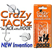CraZy TACKz RE-SALE Pkg 168tacks (14 blisterpacks Round & Clear - plus 2 free packs)