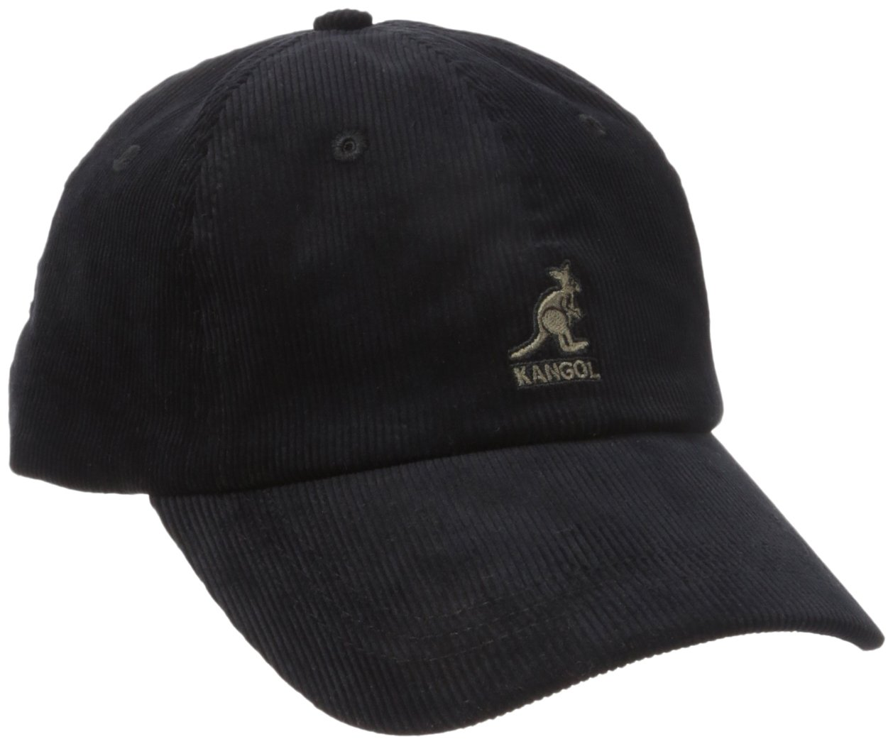 Kangol Men's Cord Baseball, Crafted with Fine Corduroy, Black (One Size Fits Most)