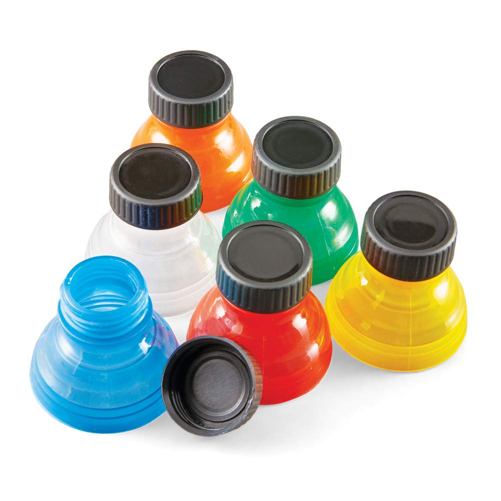 Fresh Top Caps Easy Snap-On Reusable Can Lid Covers, Set of 6 - Great for Soda, Sparkling Water, Beer by Collections Etc (Image #1)