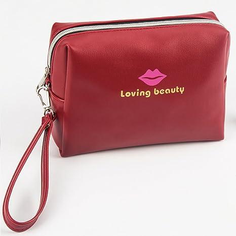 Bolsa de maquillaje pequeña, Labios rojos Bolsas de ...