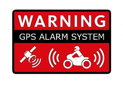 2 Pegatinas con Aviso de Alarma para el GPS de la ...