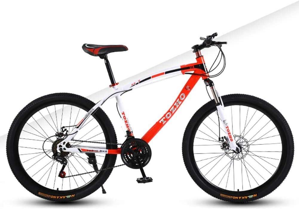 WJJH Ruedas De 26 Pulgadas Bicicleta De Montaña Doble Disco De Freno 24 Velocidad Hombres Y Mujeres Bicicleta Suspensión Delantera MTB