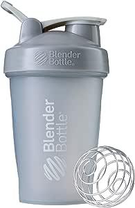 BlenderBottle Classic Loop Top Shaker Bottle, Pebble Grey, 20-Ounce Loop Top