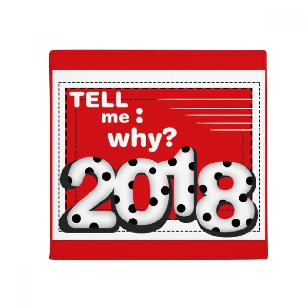DIYthinker 2018 Tell Me Why Milk Digital Happy New Year Anti-Slip Floor Pet Mat Square Home Kitchen Door 80Cm Gift