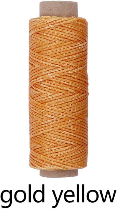 HLLGZXKA 7 Colores 150D 50M Cordón de Hilo de Coser de Cuero Encerado para artesanía de Cuero Hilo de Coser de Costura de Bricolaje para Hilo de Coser de Cuero ...