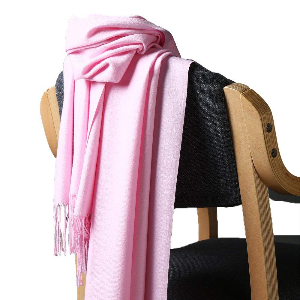 HulubBuir Solid Color Cashmere Scarf Womens Pashmina Shawl Wrap Scarf 16 Colors