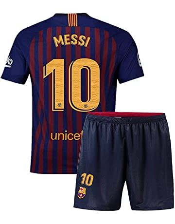 460f3521 2018/2019 Kid Jersey Youth Jersey Barcelona 10 Messi Home Soccer Jersey  Matching Shorts