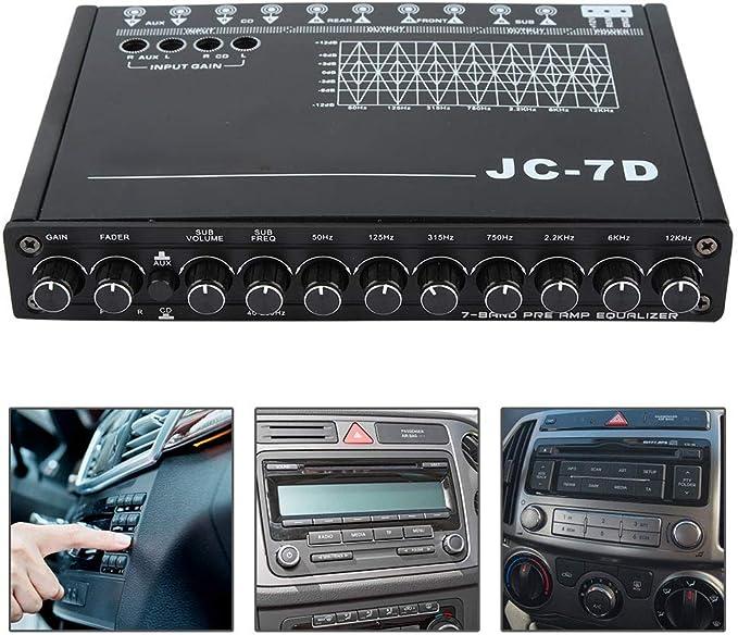 EBTOOLS Ecualizador de Audio del Autom/óvil con Ecualizador de Audio con 7 bandas