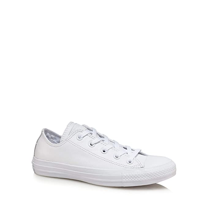 Converse Womens White Leather 'Chuck Taylor All Star' Lace Up Trainers