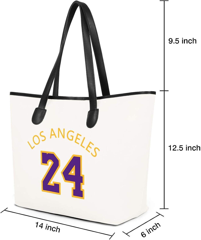 BeercsWG Essential Everyday Canvas Tote Bag Basketball Player Mamba 24 Party Shoulder Bag Vintage Large Foldable Handbag