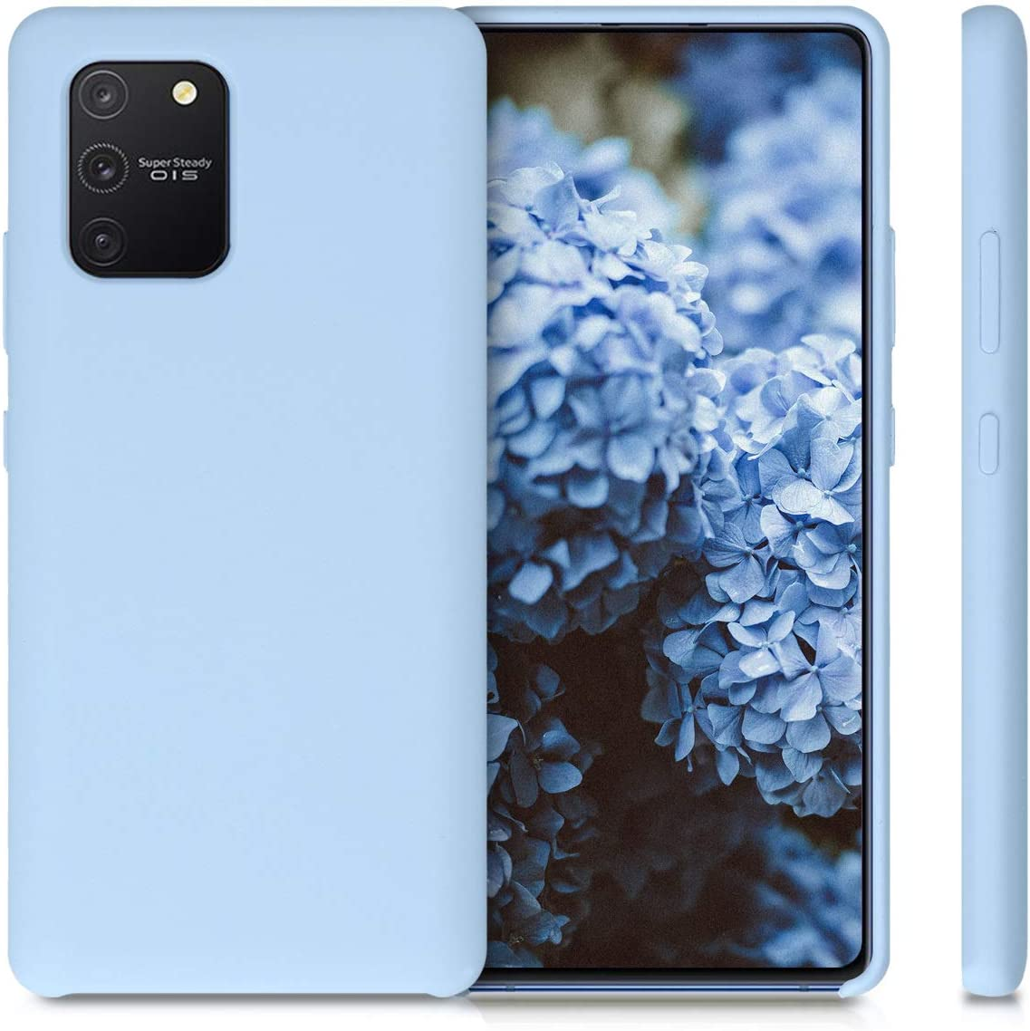 kwmobile Funda Compatible con Samsung Galaxy S10 Lite Carcasa de TPU para m/óvil Cover Trasero en Azul Claro Mate
