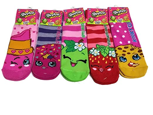 b72af63f2 Amazon.com  Shopkin Slipper Socks Girls (Acrylic)  Clothing