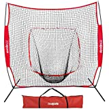 ZENY 7'×7' Baseball Softball Practice Net Hitting Batting Catching Pitching Training Net w/Carry Bag & Metal Bow Frame, Baseball Equipment with Carry Bag