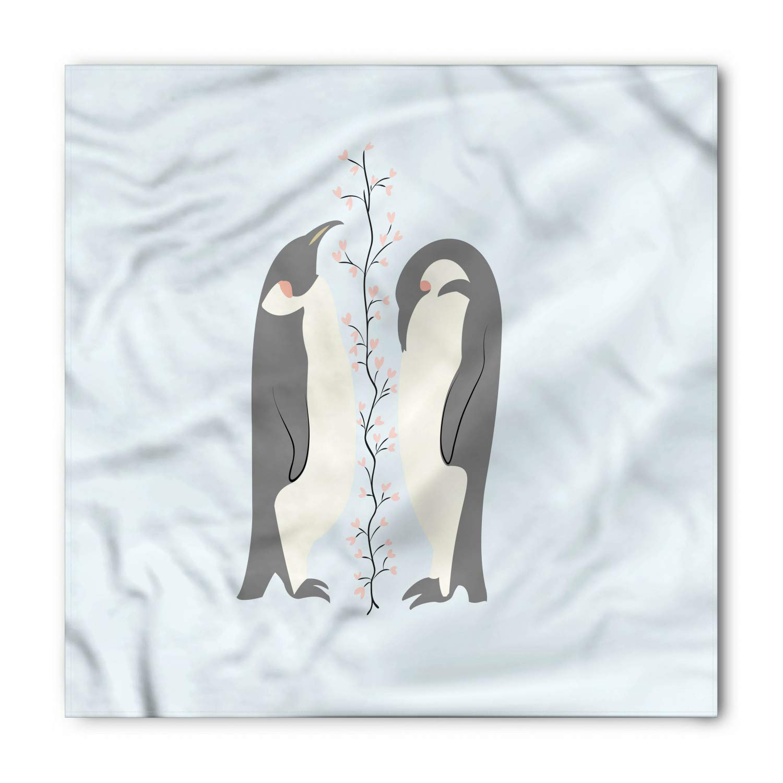 Soefipok Pañuelo azul y beige, pingüinos enamorados, cabeza y ...