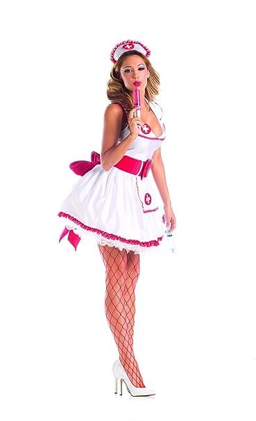 Amazon.com: Partido Rey Naughty disfraz de enfermera sexy 4 ...