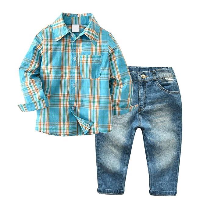 Amazon.com: Conjunto de ropa para niños pequeños de 2 piezas ...