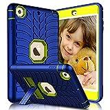 iPad Mini Case, iPad Mini 2 Case, iPad Mini 3 Case, iPad Mini Retina Case, Elegant Choise Heavy Duty Three Layer Armor Protective Case with Kickstand Compatible with iPad Mini 1/2/ 3 (Lemon Yellow)