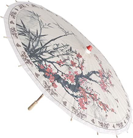 Amazon.com : Flameer Plum Blossom and Bamboo Parasol, 33 ...