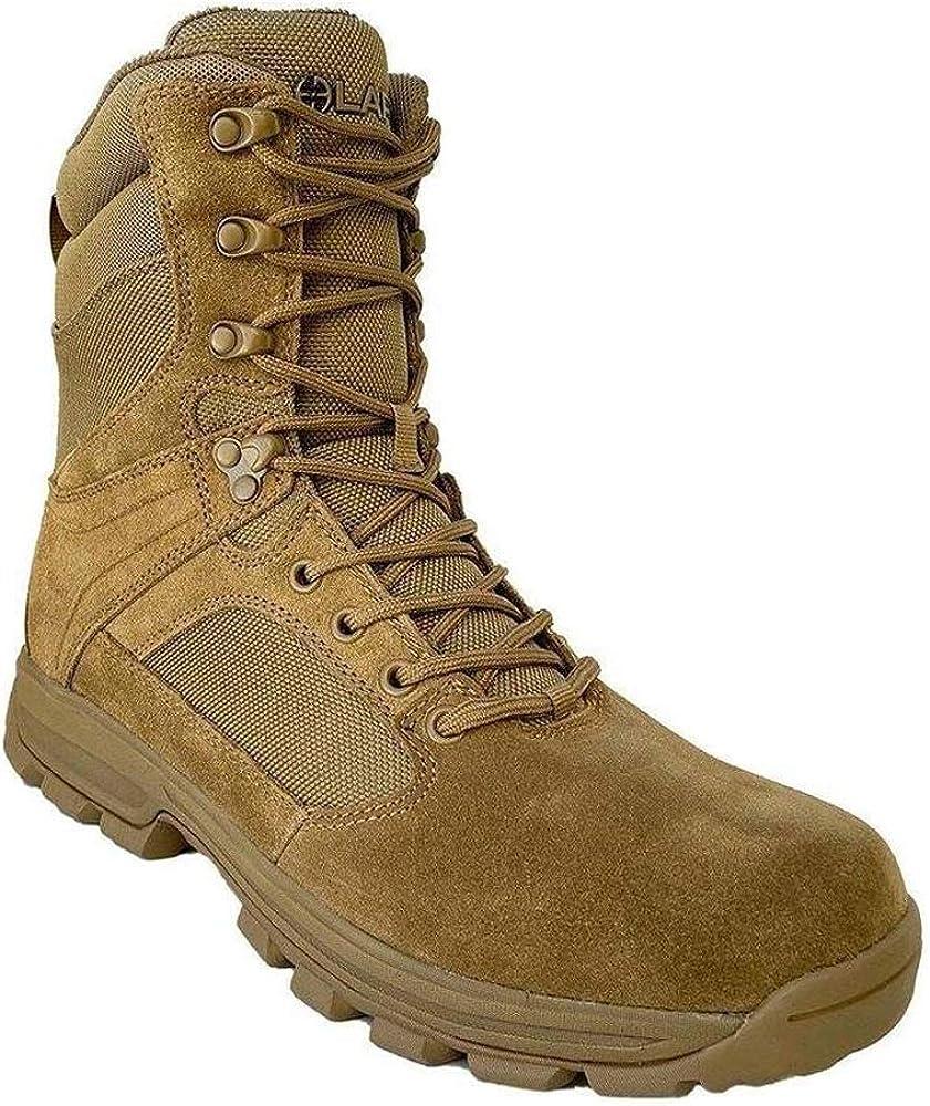 "LA Police Gear Sector Coyote 8"" Side-Zip Duty Boot: Shoes"