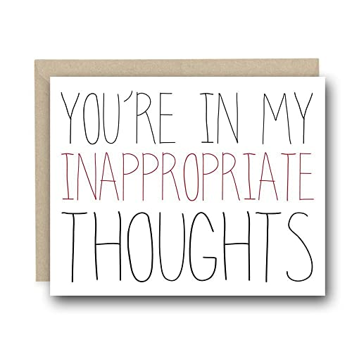 Funny Valentineu0027s Day Card   Youu0027re In My Inappropriate Thoughts   Love  Card,