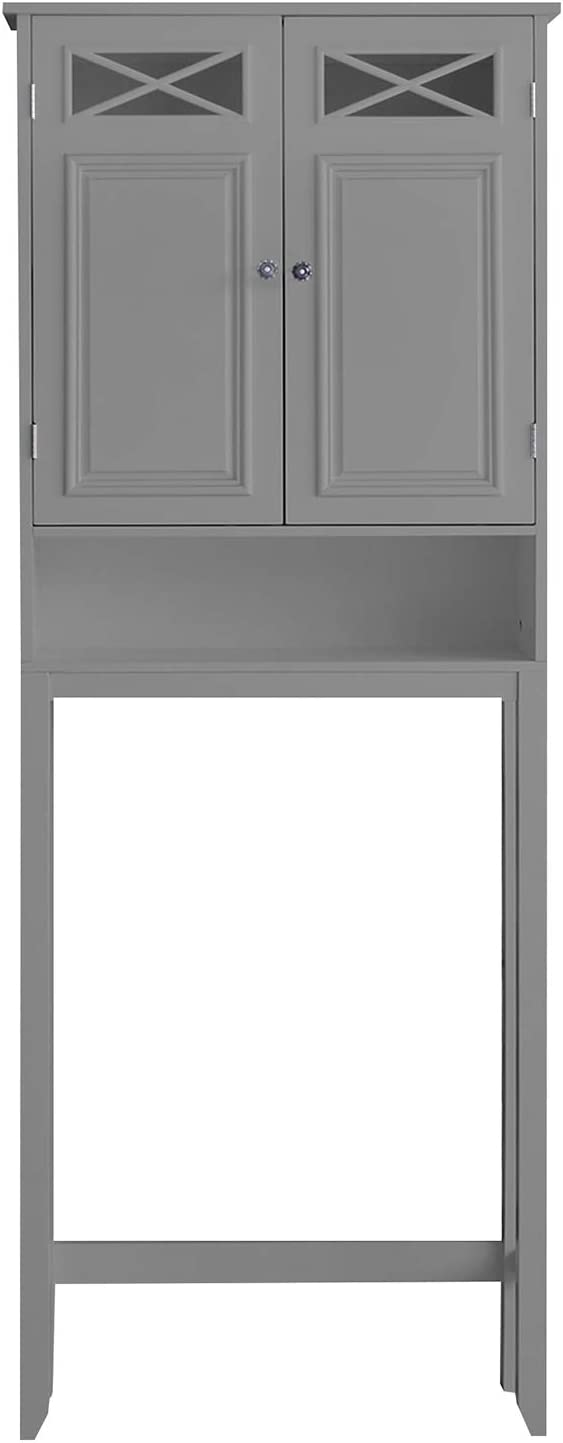 Elegant Home Fashions Dawson Over the Toilet Space Saver Cabinet, Grey