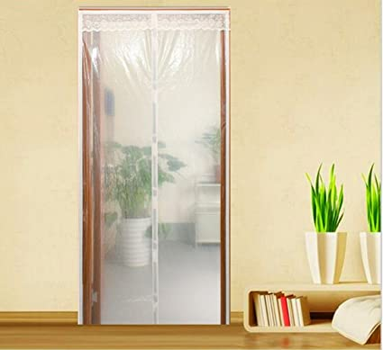 Bon Transparent Magnetic Screen Door ,Full Frame Velcro, Fits Doors Up To 34x  82 Inch