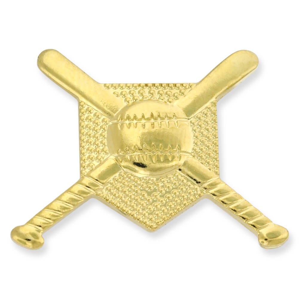 JDS Industries PinMarts Gold Baseball Bats Ball and Base Sports Pin
